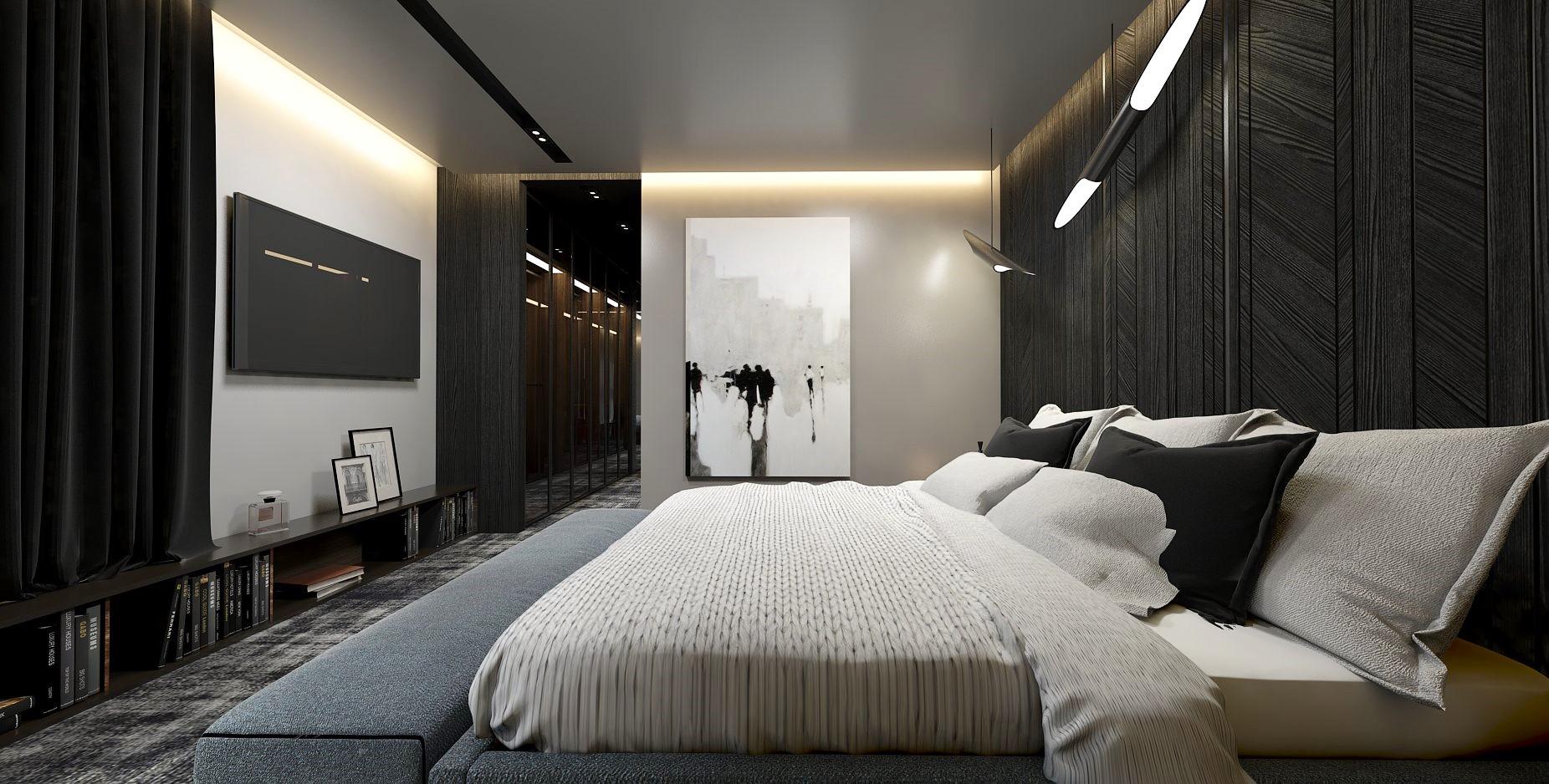 Sypialnia Z Garderobą I łazienką Dobry Architekt